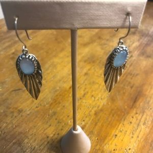 Artistically set Chalcedony earrings